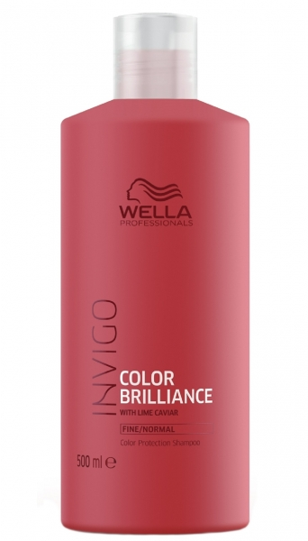 Sampon pentru par vopsit cu fir fin-normal Wella Professionals Invigo Brilliance, 500 ml