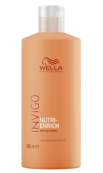 Sampon pentru par uscat si deteriorat Wella Professionals Invigo Nutri Enrich, 500 ml