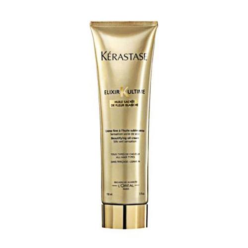 Tratament crema leave-in pentru toate tipurile de par Kerastase Elixir Ultime Creme Fine, 150 ml