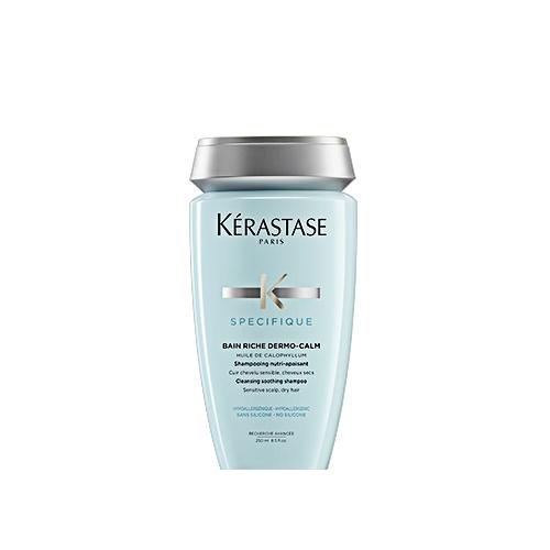 Sampon pentru scalp sensibil si par uscat Kerastase Specifique Dermocalm Bain Riche, 250 ml