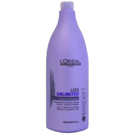 Sampon pentru par rebel L`Oreal Professionnel Serie Expert Liss Unlimited, 1500 ml