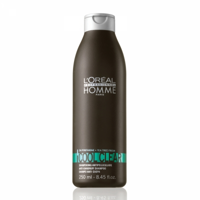 Sampon anti-matreata pentru barbati L`Oreal Professionnel Homme Cool Clear, 250ml