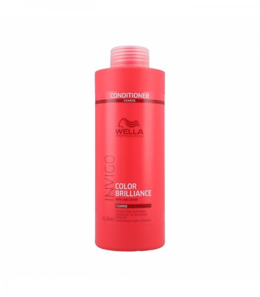 Balsam pentru par vopsit cu fir gros Wella Professionals Invigo Brilliance, 1000 ml