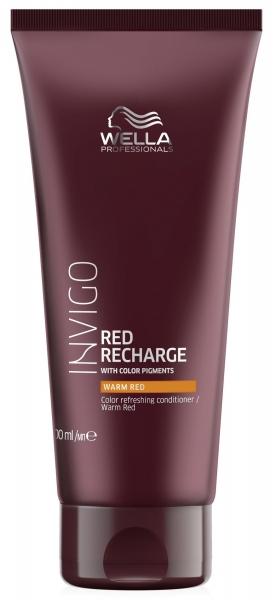 Balsam pentru pastrarea culorii pentru par vopsit roscat cald Wella Professionals Invigo Recharge Warm Red, 200 ml