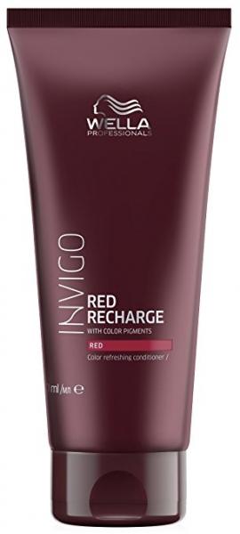 Balsam pentru pastrarea culorii pentru par vopsit roscat Wella Professionals Invigo Recharge Red, 200 ml