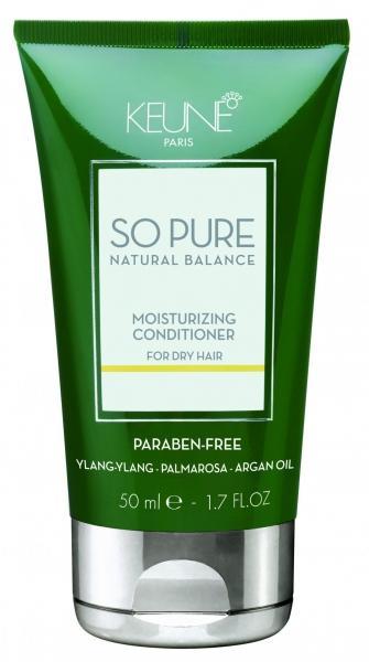Balsam tratament hidratant pentru par deteriorat Keune So Pure Moisturizing, 50ml