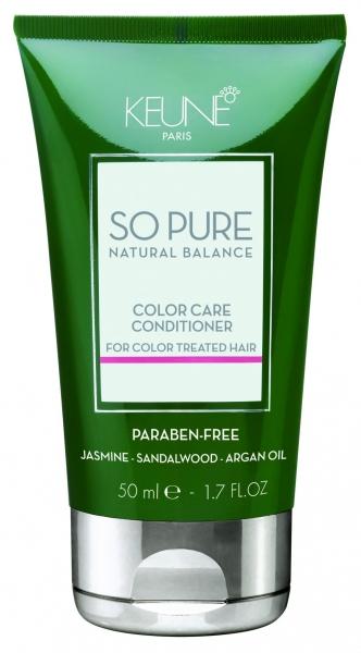 Balsam tratament pentru ingrijirea parului colorat Keune So Pure Color Care, 50ml