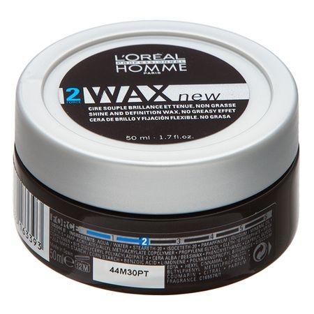 Ceara pentru par cu fir gros L`Oreal Professionnel Homme Wax, 50 ml