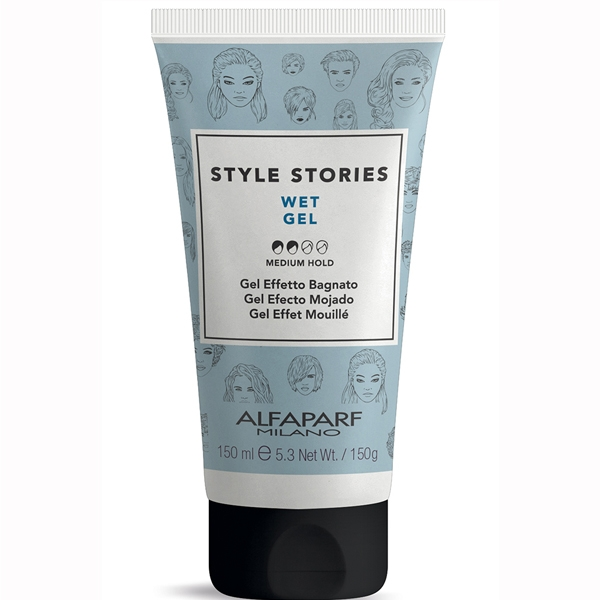 Gel de par cu aspect umed Alfaparf Style Stories Wet Gel, 150 ml
