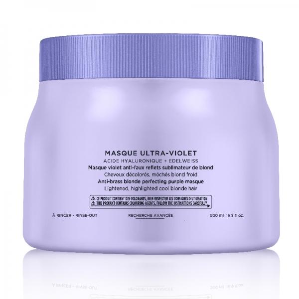 Masca pentru neutralizarea tonurilor de galben Kerastase Blond Absolu Masque Ultra-Violet, 500 ml