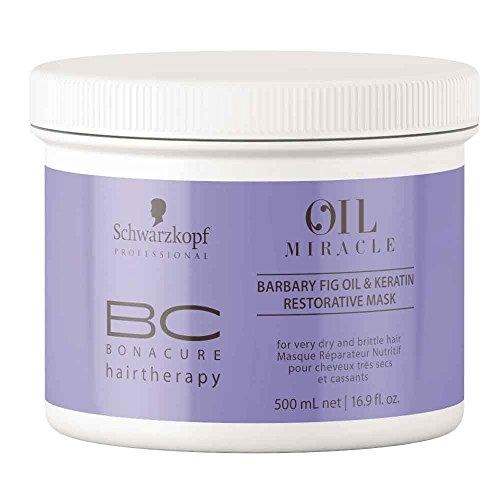 Masca pentru par uscat si degradat cu ulei de fruct de cactus  Schwarzkopf Bonacure Oil Miracle Barbary Fig Treatment, 500 ml
