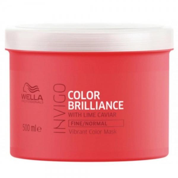 Masca pentru par vopsit cu fir fin-normal Wella Professionals Invigo Brilliance, 500 ml