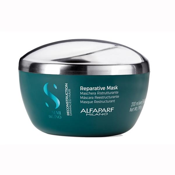 Masca pentru reconstructie fara sulafti Alfaparf Semi di Lino Reconstruction Reparative Mask, 200 ml