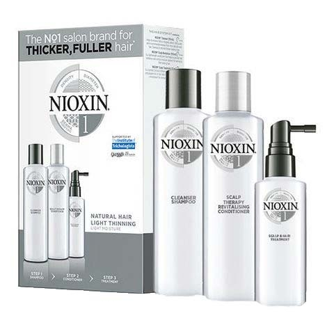 Maxi set impotriva caderii parului Nioxin System 1, 300+300+100 ml