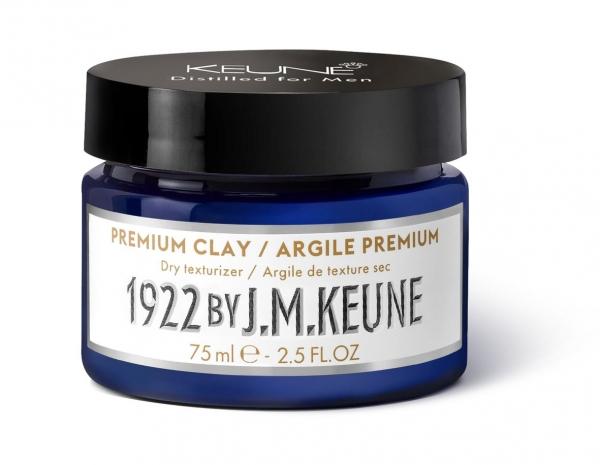 Pomada barbati cu textura de argila Keune 1922 Premium Clay, 75 ml