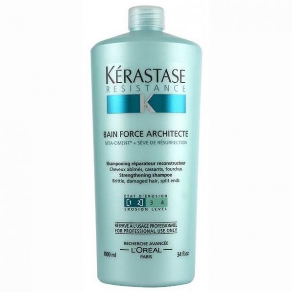 Sampon pentru par degradat Kerastase Resistence Bain Force Architecte, 1000 ml