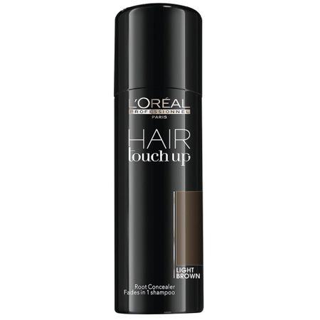 Spray corector pentru acoperirea firelor albe  L`Oreal Professionnel Hair Touch-Up Light Brown, Saten Deschis, 75 ml