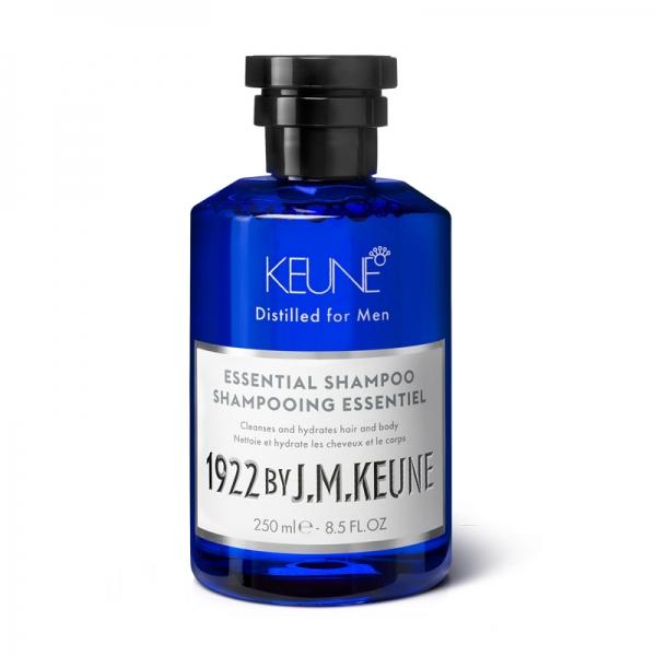 Sampon barbati  2 in 1 pentru toate tipurile de par Keune 1922 Essential Shampoo, 250 ml
