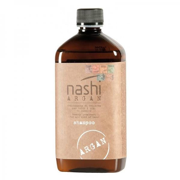 Sampon hidratant pentru toate tipurile de par cu ulei de argan Nashi Argan, 500 ml
