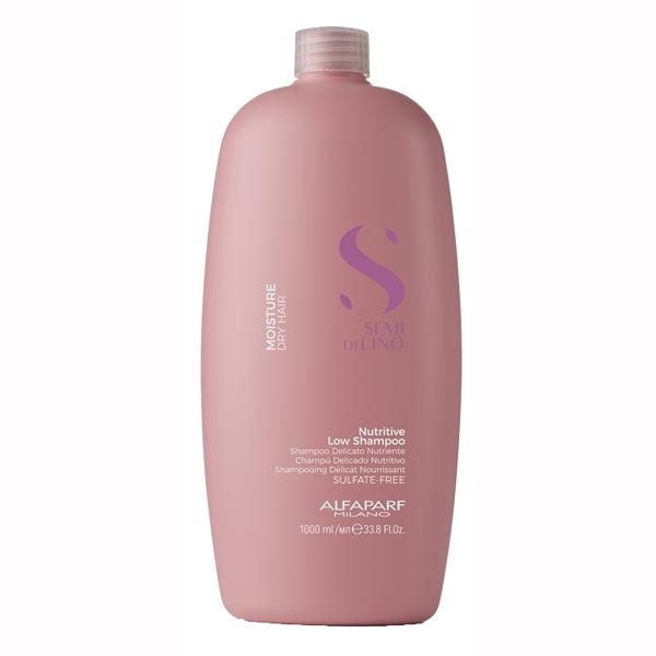 Sampon pentru hidratare fara sulfati Alfaparf Semi di Lino Moisture Nutritive Shampoo, 1000 ml