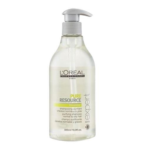 Sampon pentru par normal si gras L`Oreal Professionnel Serie Expert Pure Resource, 500 ml