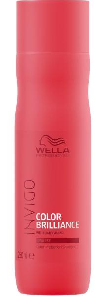 Sampon pentru par vopsit cu fir gros Wella Professionals Invigo Brilliance, 250 ml
