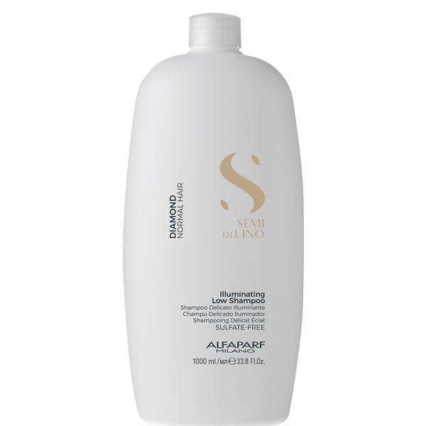 Sampon pentru stralucire fara sulfati Alfaparf Semi di Lino Diamond Illuminating Shampoo, 1000 ml
