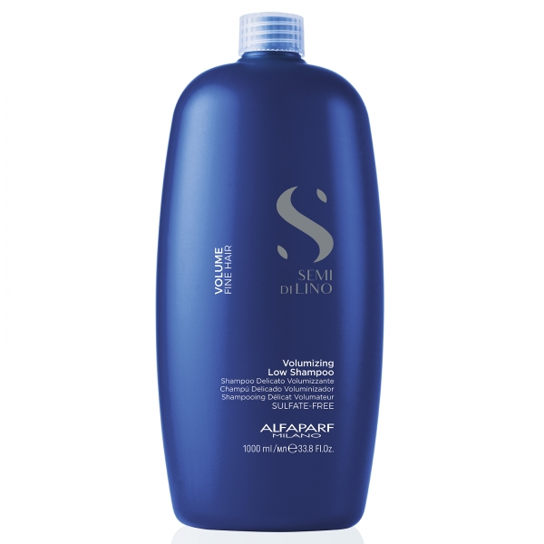 Sampon pentru volum fara sulfati Alfaparf Semi di Lino Volumizing Low Shampoo, 1000 ml 0