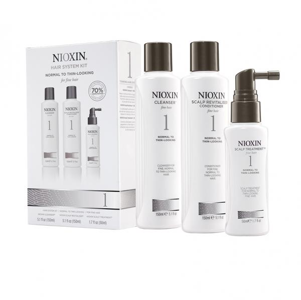 Set impotriva caderii parului Nioxin System 1, 150+150+50ml 1