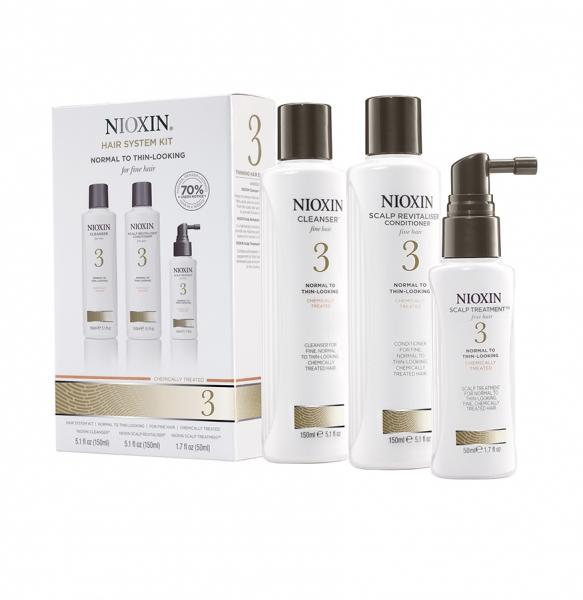 Maxi set impotriva caderii parului Nioxin System 3, 300+300+100ml 1