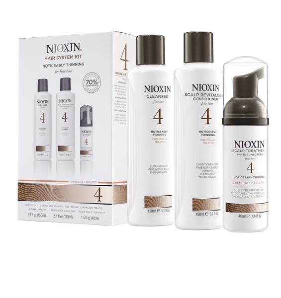 Set impotriva caderii parului Nioxin System 4, 150+150+40ml