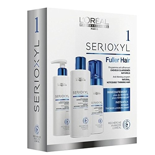 Set pentru par natural, normal sau subtire L`Oreal Professionnel Serioxyl kit 1, 625 ml