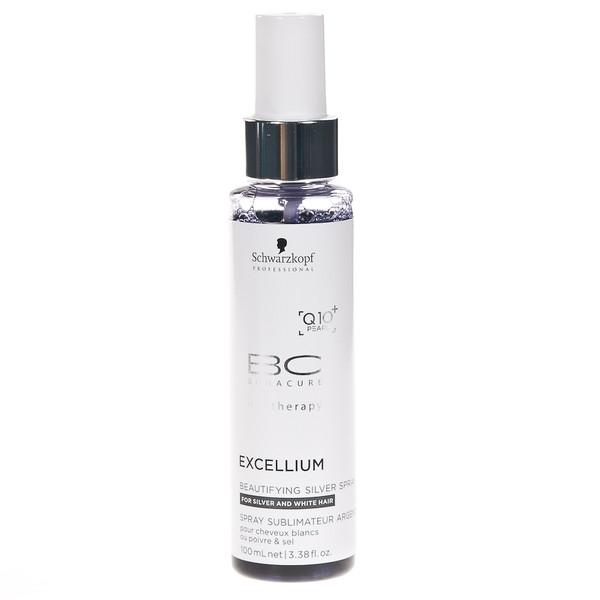 Spray tratament pentru par grizonat Schwarzkopf Bonacure Excellium Beautifying Silver Spray, 100 ml