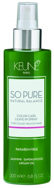 Tratament fara clatire pentru ingrijirea parului colorat  Keune So Pure Color Care, 200ml