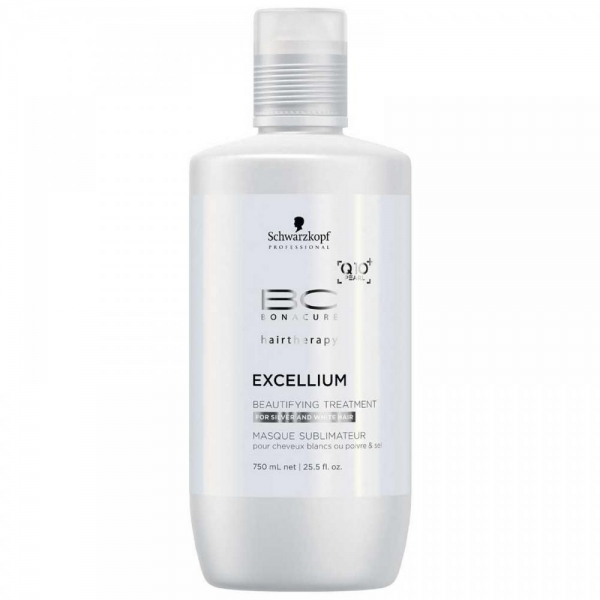 Tratament pentru par grizonat si alb Schwarzkopf Bonacure Excellium Beautifying Treatment, 750 ml