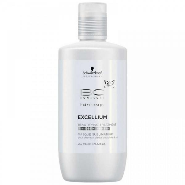 Tratament pentru par grizonat si alb Schwarzkopf Bonacure Excellium Beautifying Treatment, 750 ml 0